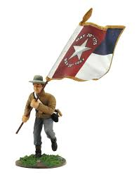 Confederate Battle Flag Meaning Confederate Army Color Bearer With North Carolina State Flag