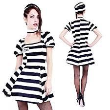 Womens Prisoner Halloween Costume Amazon Club Queen Short Style Women U0027s Prison