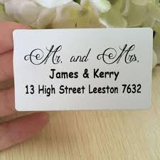 print your own address labels wedding guest address labels