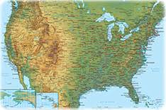 physical map of argentina america physical map of the continent