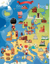 Europe Map Puzzle by Europe Cartoon Map Stock Vector Art 517255121 Istock