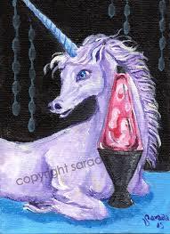 purple pink lava l purple unicorn pink lava l groovy 5 x 7 painting cute psychedelic