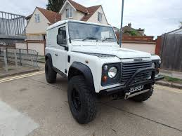 land rover lifted landrover defender 90 td5 2000 u0027v u0027 reg mach 5 wheels lifted