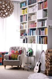 Ikea Billy Bookcase With Doors Billy Bookcases With Olsbo Doors Tall Billy Stacked On Top Of