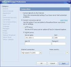 Yahoo Messenger Live Chat Room by How To Configure Proxy Settings In Yahoo Messenger