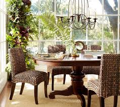 Dining Room Table Pottery Barn Tivoli Extending Pedestal Dining Table Tuscan Chestnut Stain
