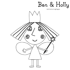 ben and holly coloring pages getcoloringpages com