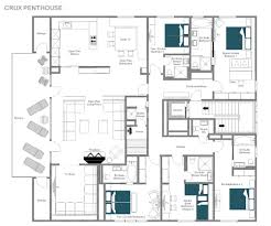 Luxury Penthouse Floor Plan by Catered Ski Chalet St Christophe Crux Penthouse Leo Trippi