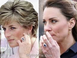 ring diana princess diana princess kate 2 5ct blue created sapphires ring