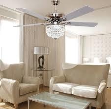 Ceiling Fan For Kitchen European Minimalist Fashion Fan Ceiling Fan Light Led Crystal