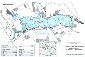 Map Of Northeast Ohio by Clear Fork Lake Fishing Map Central Ohio Fishing