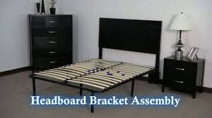 premier flex headboard footboard brackets black walmart com