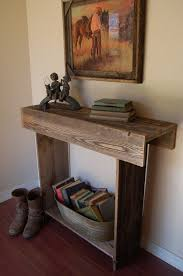Wood Entry Table Reclaimed Wood Console Table Entry Table Country Western Farm