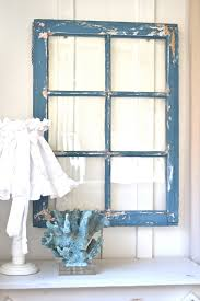 French Country Wall Art - heavy old vintage farm window wall decor rustic vintage