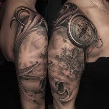 travel tattoo images Compass map plane travel tattoo best tattoo design ideas jpg