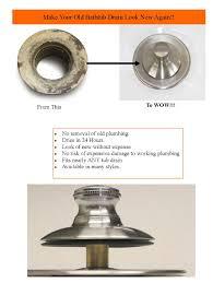 bathtub drain trim ring cover surface renew inc