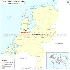 where is amsterdam on a map where is amsterdam location of amsterdam in netherlands map