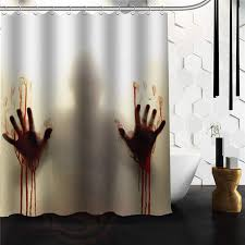 Custom Shower Curtains New Arrival Walking Dead Creepy Bloody Custom Shower Curtain