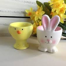 bunny egg cup yellow or white bunny egg cup gisela graham easter gift