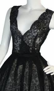 rare christian dior vintage dress 1950s black lace u2013 dressing vintage