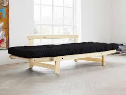 canapé matelas canapé convertible en bois avec matelas futon beat gris