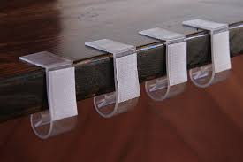 table skirt clips with velcro amazon com navadeal table skirting clips tablecloth clips for table
