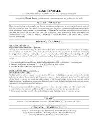 Example Of Resume Profile Entry Level Bank Resume Example Resume Cv Cover Letter