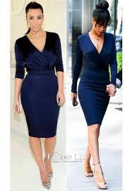meagan good royal blue long sleeve v neck celebrity dress bet