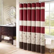 bathroom white and teal chevron bathroom shower curtain