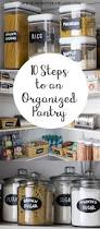 Kitchen Pantry Idea by Best 25 Organized Pantry Ideas On Pinterest Pantry Storage
