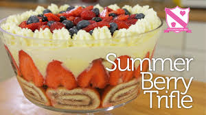 thanksgiving trifle recipes summer berry trifle in the kitchen with kate youtube