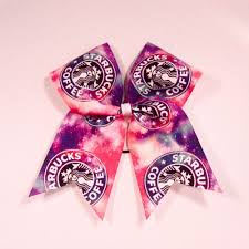 galaxy ribbon galaxy starbucks cheer bow cheer bows grosgrain ribbon and