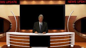 News Studio Desk by Tv News Anchor In Studio Stock Video Footage Videoblocks