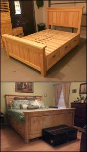 Wooden Beds With Drawers Underneath Best 25 Bed With Drawers Ideas On Pinterest Bed Frame With