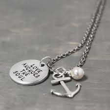 Love Anchors The Soulnautical Anchor - personalized anchor necklace love anchors the soul necklace