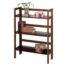 Foldable Bookcases Four Tier Foldable Wooden Shelf Winsome Wood Free Standing Shelves