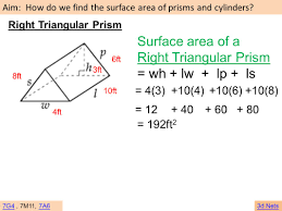 Area Formula by 8 7 B Lateral U0026 Total Surface Area Rectangular Triangular Prisms