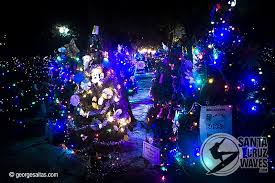san jose christmas lights all lit up at christmas in the park in san jose ca photo by