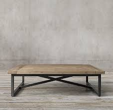 square gray wood coffee table salvaged square coffee table