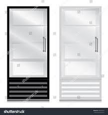 glass door fridge door handle glass stock vector 580449970