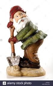 Lawn Gnome by Garden Gnome Holding Shovel Stock Photo Royalty Free Image