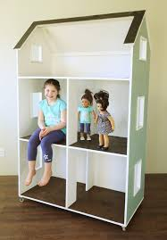 Wood Dollhouse Furniture Plans Free by Ana White Three Story American Or 18