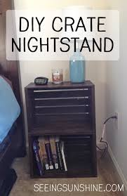 How To Make A Nightstand Out Of Wood by Diy Crate Nightstand Seeing Sunshine