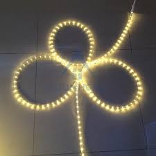 warm white led rope lights clear waterproof tubing custom length