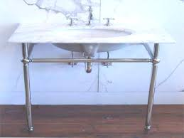carrara marble console sink bathrooms design marble console sink with chrome legs vintage with