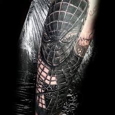 100 spiderman tattoo design ideas men wild webs ink
