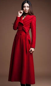 Women Winter Coats On Sale Red Long Coats Red Winter Wool Coats Women Red Long Thick