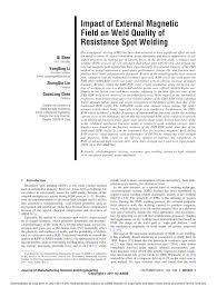 impact of external magnetic field on weld quality of resistance