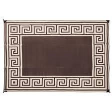 Rv Awning Mats 8 X 20 by Patio Mat Polypropylene Greek Design 9 U0027x12 U0027 Coffee Brown