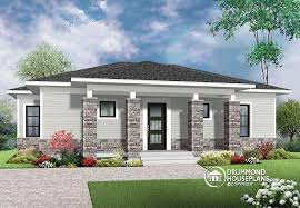 Family Home Plans W3148 Economical Modern Home Plan With An Open Kitchen Dining